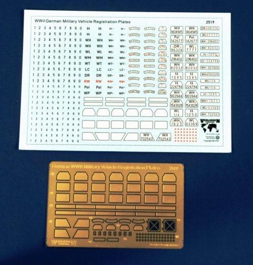 German registration plates 1/35 Matículas para vehiculos alemanes SGM. Material fotograbado y calca