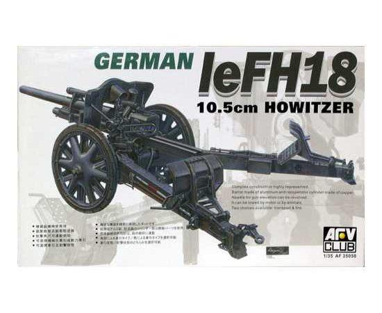 afv club 35050 LeFH 18 - 10,5cm Howitzer 1/35 Kit en plástico para montar y pintar. Incluye el tubo del cañón torneado en aluminio.