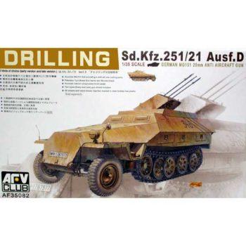 afv club 35082 Sd.Kfz.251/21 Ausf.D Drilling