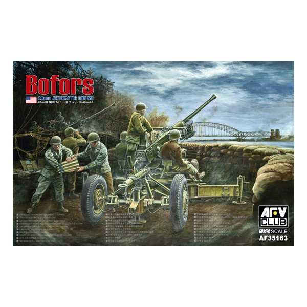 afv club 35163 Bofors 40mm Automatic Gun M1 USA Version Kit en plástico para montar y puntar. Incluye fotograbados y el tubo del cañón torneado en aluminio