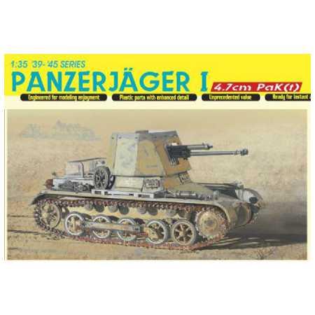 dragon 6230 Panzerjager I 4,7cm PaK(t) 1/35 Kit en plástico para montar y pintar. Incluye fotograbados y cadenas por eslabones individuales.