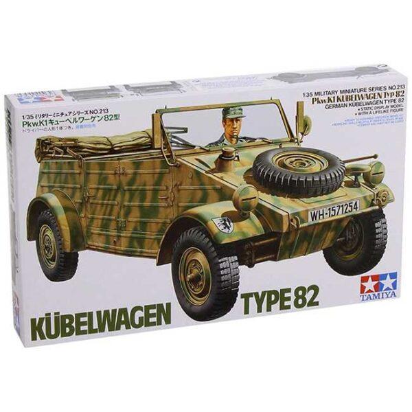 tamiya 35213 Kübelwagen Type 82 1/35 Kit en plástico para montar y pintar. Incluye una figura.