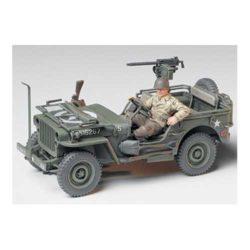 tamiya 35219 Jeep Willys MB 1/4 Ton Kit de plástico para montar y pintar. Incluye una figura.