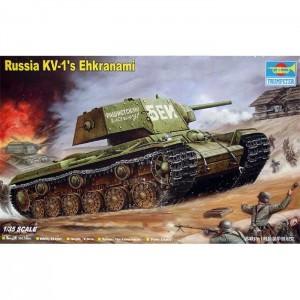 trumpeter 00357 Russia KV-I´s Ehkranami Kit en plástico para montar y pintar. Incluye cadenas por tramo y eslabón y de banda de goma. Dimensiones: 195.5 x 94.8 mm Piezas 230+
