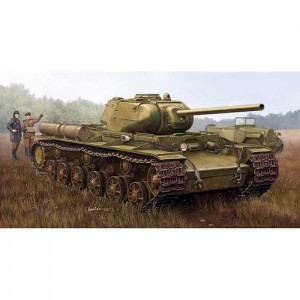 trumpeter 01567 KV-1S 85 Heavy tank Kit en plástico para montar y pintar. Incluye fotograbado, cañón torneado en aluminio y cadenas de eslabones individuales.