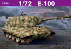 dragon 7256 E-100 Heavy Tank 1/35 Kit en plástico para montar y pintar. Incluye fotograbados para las rejillas del motor y el freno de boca.
