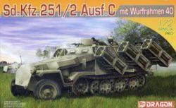 dragon 7306 Sd.Kfz.251/2 Ausf.C mit Wurfrahmen 40 Kit en plástico para montar y pintar. Incluye fotograbado. Escala 1/72