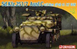 dragon 7315 Sd.Kfz.251/7 Ausf.C w/2,8cm sPzB41 AT 1/72 Kit en plástico para montar y pintar. Incluye fotograbados. Escala 1/72