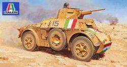 italeri 7051 Autoblinda AB41 Kit en plástico para montar y pintar. Opciones de decoración para Italia y Alemania.