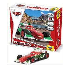 zvezda Disney Cars Francesco Kit de fácil montaje por presión. No necesita pegamento. Incluye pegatinas. Recomendado a partir de 7 años.