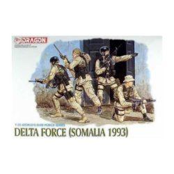 dragon 3022 1/35 Delta Force (Somalia 1993) Kit en plástico para montar y pintar. Incluye 4 figuras el Delta Force en Somalia 1993.