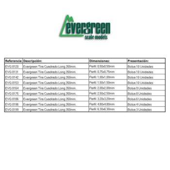 Evergreen Tira Cuadrado