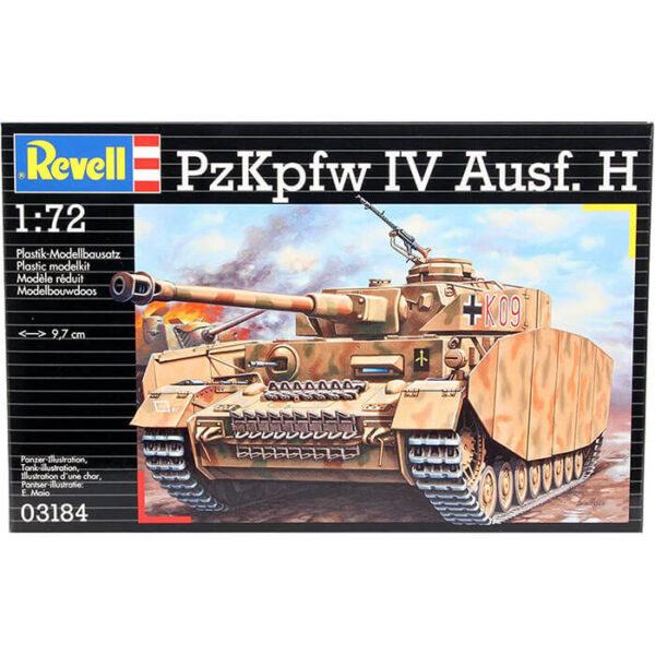 revell 03184 PzKpfw. IV Ausf.H 1/72 Kit en plástico para montar y pintar. Incluye cadenas por tramo y eslabón.