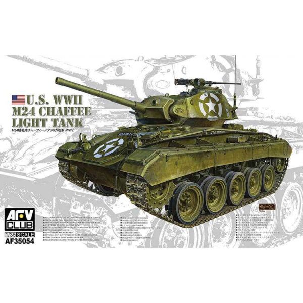 afv 35054 M24 Chafee US WWII Light Tank