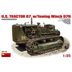 U.S. Tractor D7 w/Towing winch D7N miniart 35174