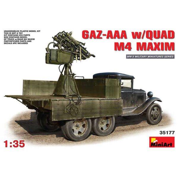 GAZ-AAA w/Quad M4 Maxim miniart 35177