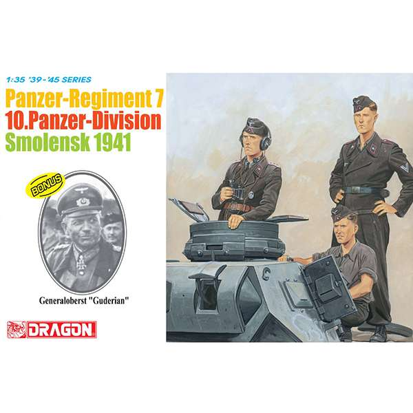 dragon 6655 Panzer-Regiment 7 10 Panzer-Division Smolensk 1941 general guderian