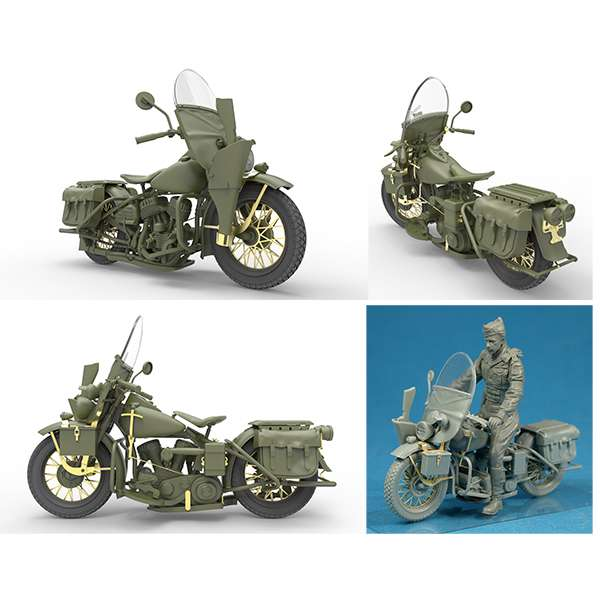 miniart 35168 US Military Policeman with Motorcycle