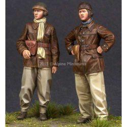 alpine miniatures 35198 WW2 French Tank Crew Set