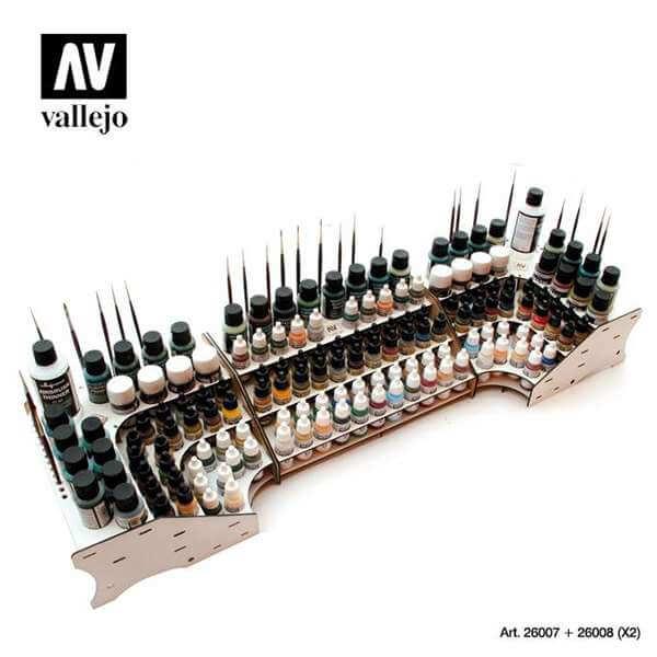acrylicos vallejo 26007 2608 expositor AV Organizador Modulo Frontal y esquinero