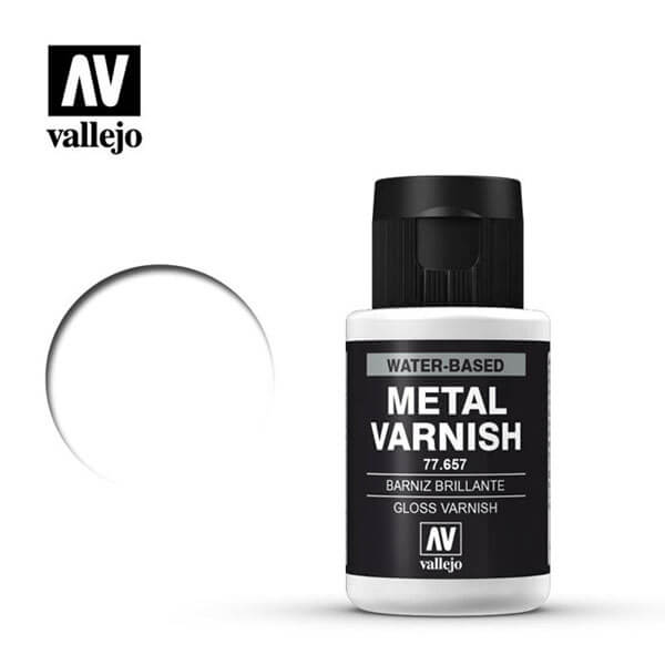 acrylicos vallejo 77657 metal color Barniz Metal Brillante Gloss Metal Varnish 32ml