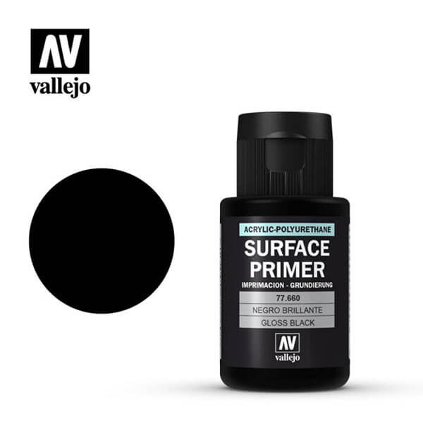 acrylicos vallejo 77660 vallejo surface primer gloss black 32ml
