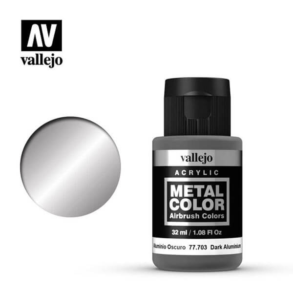 acrylicos vallejo 77703 metal color vallejo dark aluminum 32ml