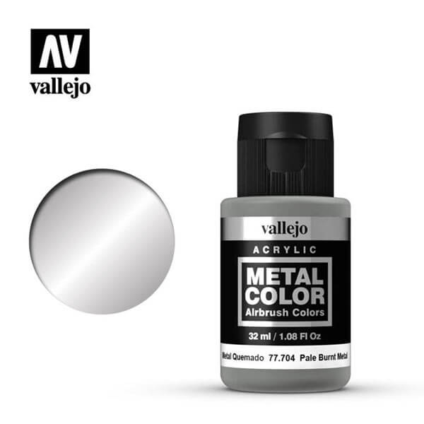 acrylicos vallejo 77704 metal color vallejo pale burnt metal 32ml