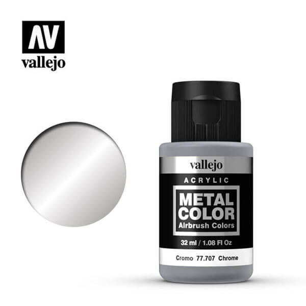 acrylicos vallejo 77707 metal color vallejo chrome 32ml