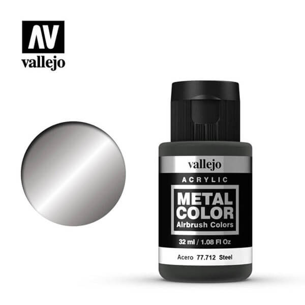 acrylicos vallejo 77712 metal color vallejo steel 32ml