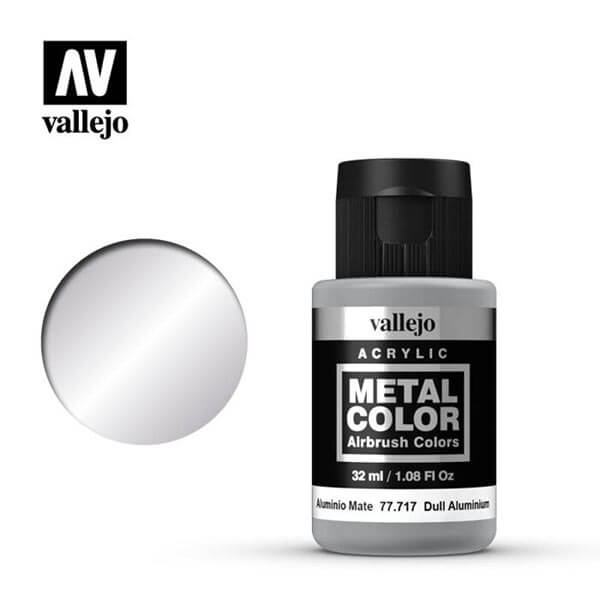 acrylicos vallejo 77717 metal color vallejo dull aluminum 32ml