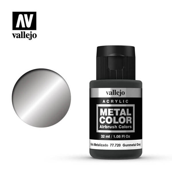 acrylicos vallejo 77720 metal color vallejo gunmetal 32ml