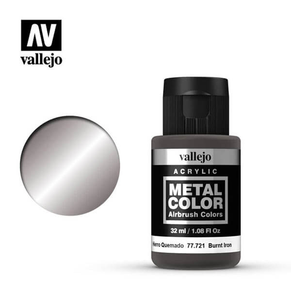 acrylicos vallejo 77721 metal color vallejo burnt iron 32ml