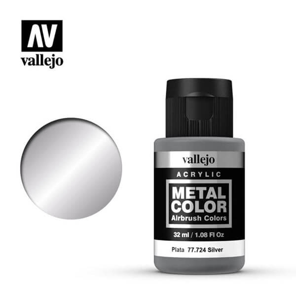 acrylicos vallejo 77724 metal color vallejo silver 32ml