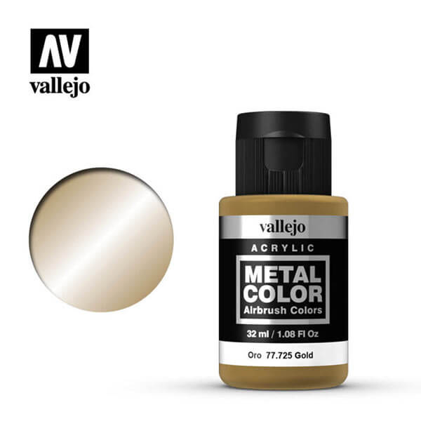 acrylicos vallejo 77725 metal color vallejo gold 32ml