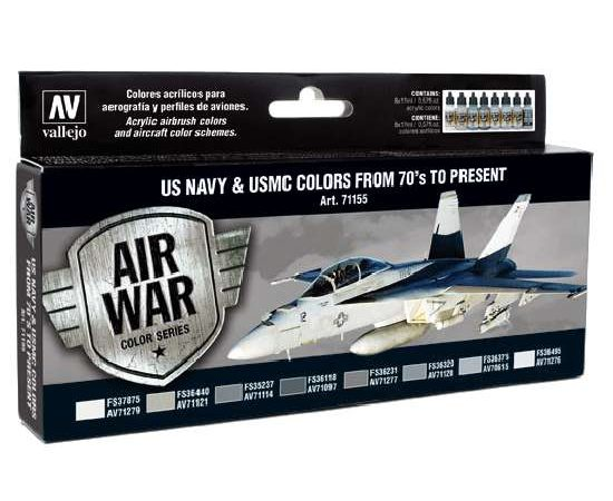 acrylicos vallejo AV71155 US Navy & USMC Colors from 70's to present