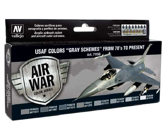 acrylicos vallejo AV71156 USAF Colors Gray Schemes from 70's to present