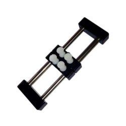 dismoer 20236Mini Tornillo de Mano 100mm Mini Tornillo de Mano para la sujeción de todo tipo de piezas. Construcción metálica y actuación por presión,con pivotes plásticos para no dañar la pieza.