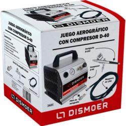 dismoer 26104 Juego Aerográfico Dismoer Compresor D-40 Juego completo de aerografía.