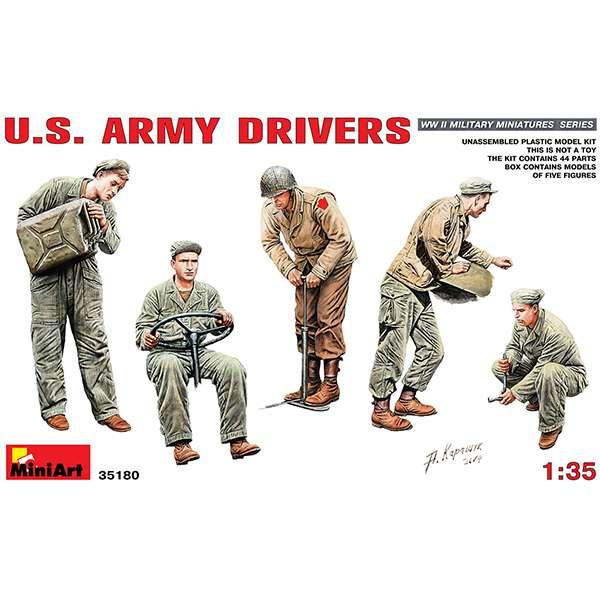miniart 35180 US Army Drivers Escala 1/35