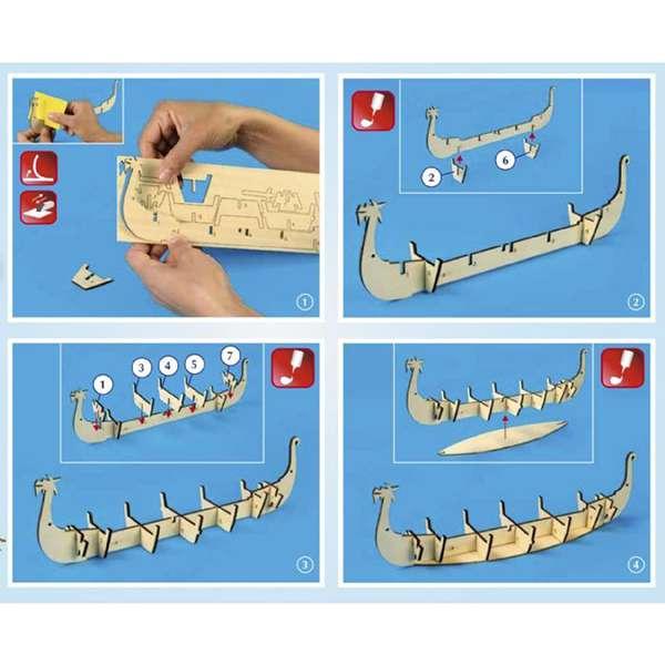artesania latina 30506 DRAKKAR BARCO VIKINGO Maquetas de fácil construcción perfectas para introducirse en el apasionante mundo del modelismo. Incluye todo lo necesario para completar la maqueta