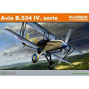 eduard 70102 Avia B.534 IV. serie Kit en plástico para montar y pintar. Incluye piezas en fotograbado y mascarillas. Seis opciones de decoración.