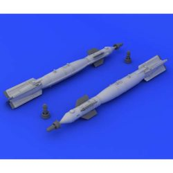 eduard brassin 648220 Misiles GBU-49 1/48 Juego de dos misiles GBU-49 en resina. Incluye calcamonias. Total piezas 14.