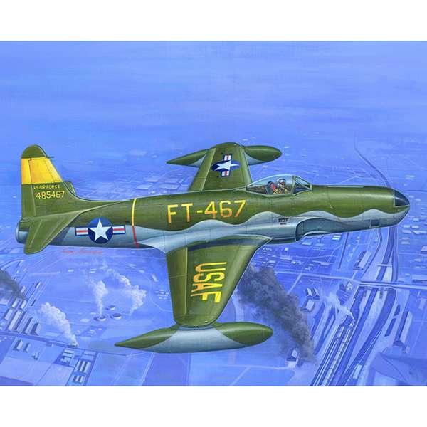 hobby boss 81724 RF-80A Shooting Star El F-80 Shooting Star fue el 1º caza a reacción operacional de la USAAF utilizado durante la guerra de Corea. El RF-80 Shooting Star era la versión de reconocimiento equipado con cámaras.