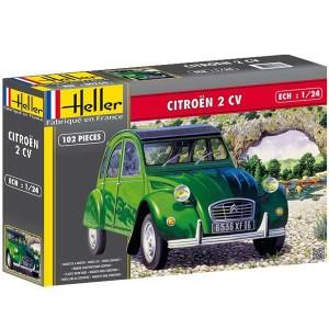 Heller 80765 2 CV CITROEN Kit en plástico para montar y pintar. Incluye interior y motor detallado.