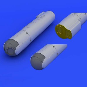 eduard-648237 AN/ AAQ-28(V) Litening pod Kit para montar un contenedor de designación de blancos AN/ AAQ-28(V). Piezas en resina, fotograbado y calcas. Escala 1/48