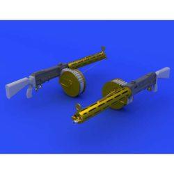eduard brassin 632070 MG 14 Parabellum WWI gun Kit para montar dos ametralladoras MG14 Parabellum de la 1ªGM. Piezas en resina y fotograbado. Escala 1/32