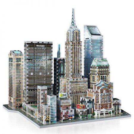 wrebbit puzzle 3d 59211 Manhattan Midtown East Puzzle 3D El edificio Chrysler (1930), edificio MetLife (1963), la torre Sony (1984), el centro Citigroup (1977), la estación Grand Central (1913).