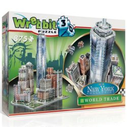 wrebbitt puzzle 3d 59212 World Trade Puzzle 3D Completa este exclusivo puzzle 3D que incluye el edificio más alto del hemisferio oeste, el One World Trade Centre. Rodeando este icono arquitectónico se encuentran otros edificios famosos como el Brookrfield Place y el Battery Parck.
