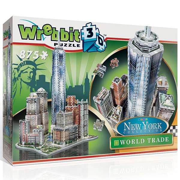 wrebbitt puzzle 3d 59212 World Trade Puzzle 3D Completa este exclusivo puzzle 3D que incluye el edificio más alto del hemisferio oeste, el One World Trade Centre. Rodeando este icono arquitectónico se encuentran otros edificios famosos como el Brookrfield Place y el Battery Parck.